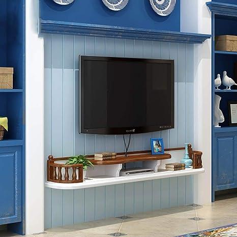 TV Rack Mueble de Televisión Montado en la Pared Dormitorio Sala de Estar Estante de Pared, Cafe Blanco: Amazon.es: Deportes y aire libre