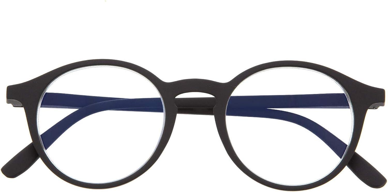 Gafas de Presbicia con Filtro Anti Luz Azul para Ordenador. Gafas Graduadas de Lectura para Hombre y Mujer con Cristales Anti-reflejantes. 6 colores y 6 graduaciones – UFFIZI