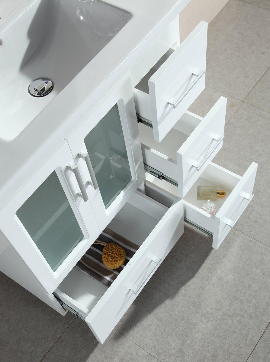 Design Element Stanton Single Drop-In Sink Vanity Set with White ...