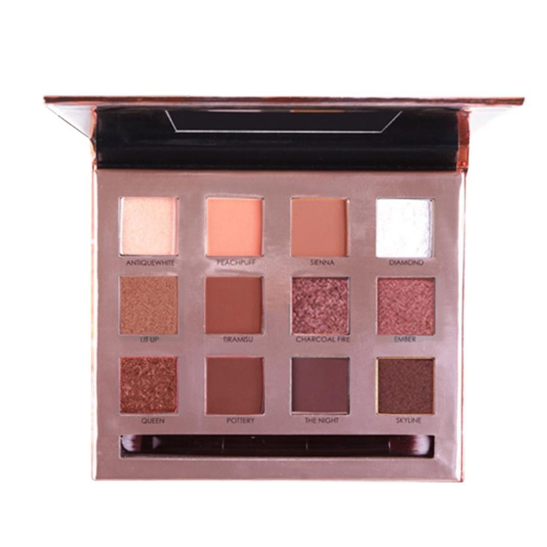 Binmer Eyeshadow Palette, 12 Colors Cosmetic Powder Cosmetic Makeup Eye Shadow