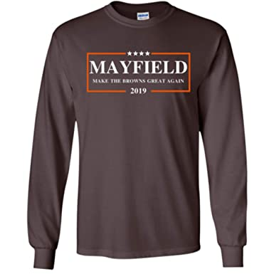 innovative design 663a7 7dc88 Baker Mayfield 2019 Longsleeve Shirt, Make The Browns Great Again LS Shirt