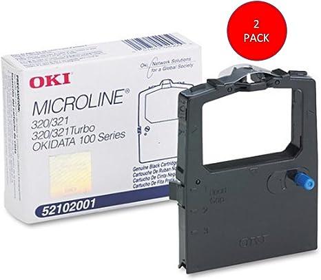 Amazon.com: Okidata Black Nylon Ribbon for Microline 320/321 ...