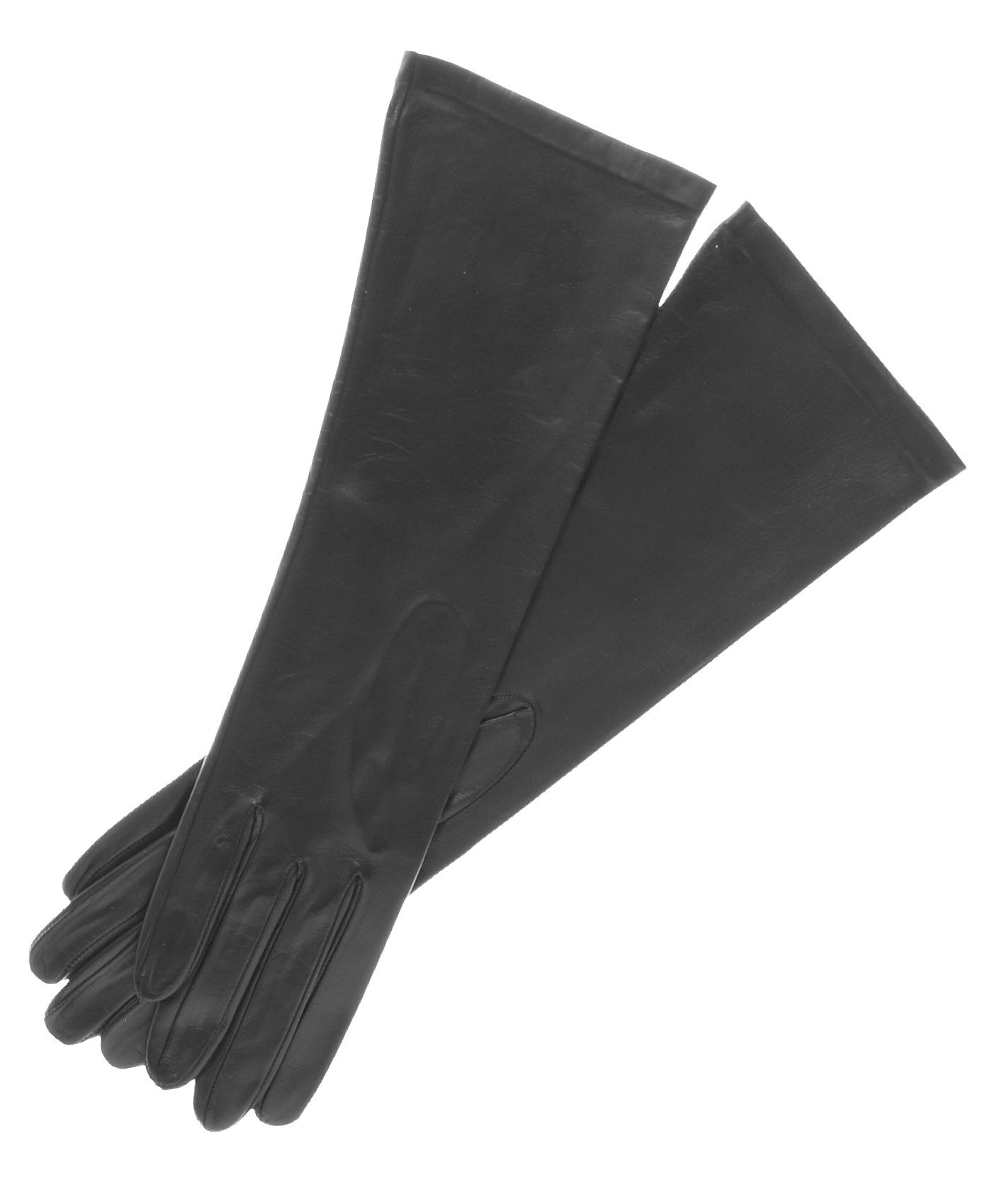 Fratelli Orsini Women's Italian ''6 Button Length'' Unlined Leather Gloves Size 8 Color Black