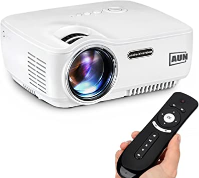 AUN 1400 Lúmenes Android Proyector, con WiFi Bluetooth LED ...