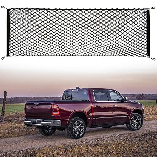 (Thie2e Cargo Net Stretchable Truck Net for Dodge Ram 1500 2500 3500 4500 5500)