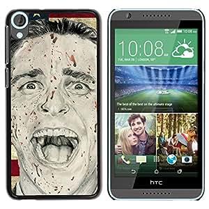 Paccase / SLIM PC / Aliminium Casa Carcasa Funda Case Cover para - Man Psycho America President Flag Usa - HTC Desire 820