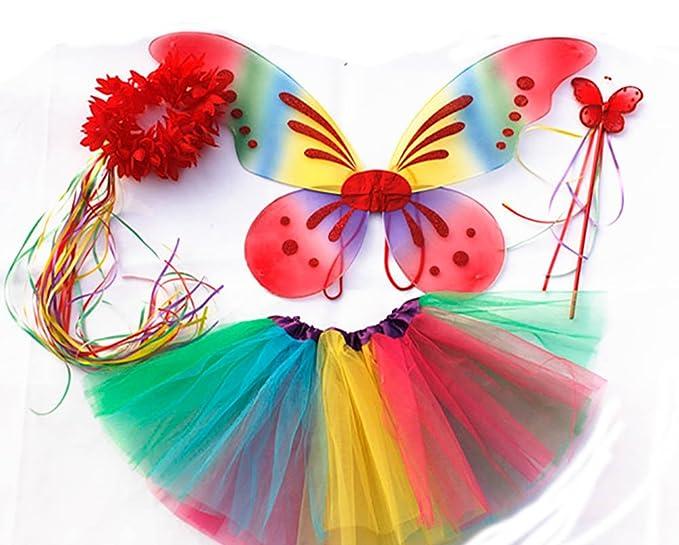 """150 opinioni per Tante Tina Costume Bambina """"Farfalla Set di 4 Pezzi – con Ali da Fata o Farfalla"""