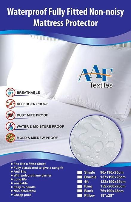 AAF Textiles doble colchones Schoner acolchada cCover extra de profundidad todos los tamaños UK individualmente único