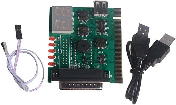 Parallel Port 4-Digit Motherboard Diagnostic Card PC Debug Tester USB Tester