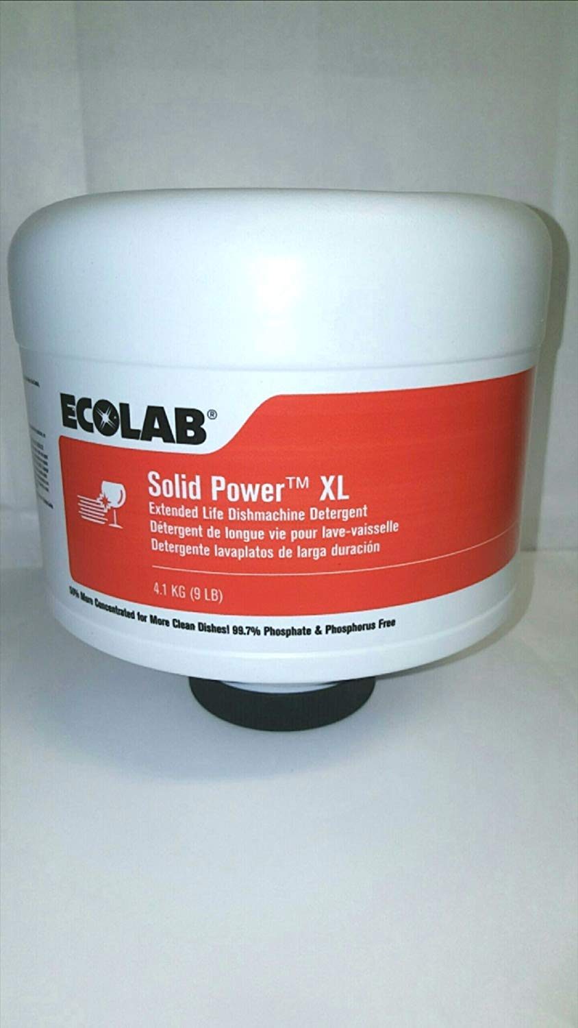 Ecolab Solid Power XL GlassGuard, Industrial-Strength Ecolab Glass Guard Solid Power XL Spotless Detergent -- Don't Disgust Customers with Smears & Food Residue - 4/Case