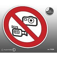 'Cartel Adhesivo de PVC Diámetro cm 12,5prohibido fotografare