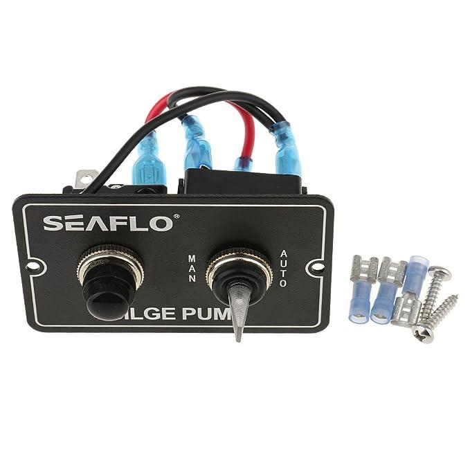 Seaflo Bedienfeld mit Kippschalter für Bilgenpumpen
