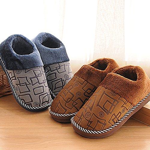 scarpe inverno pantofole E di home e YMFIE donne cotone In pantofole in uomini caldi e autunno di antiscivolo aFIqFHw6