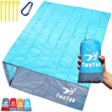 Outdoor Beach Blanket Picnic Mat - Lightweight Compact Portable Pocket Waterproof Sand Proof Beach Blanket for Travel…