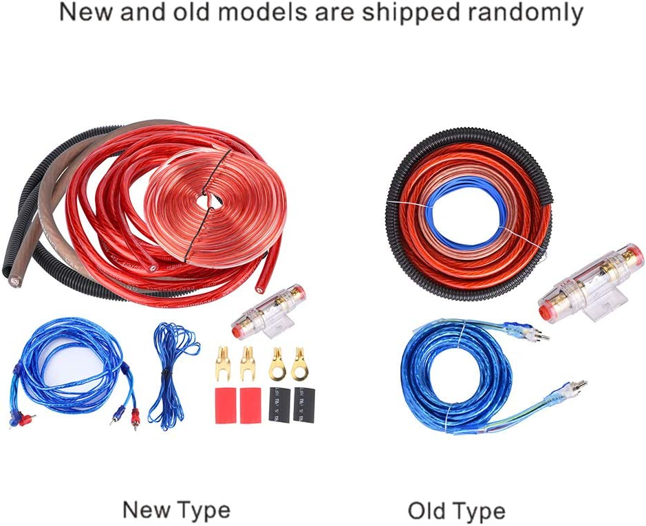 2800W 4 Guage Amplifier Installation Wiring Kit with RCA Interconnect and Speaker Wire Car Audio Subwoofer Wire AMP Wiring Auto Audio Cables
