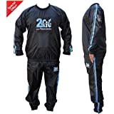 2Fit Heavy Duty Sweat Suit Sauna Exercise Gym Suit Fitness, Weight Loss, Anti-Rip Blue