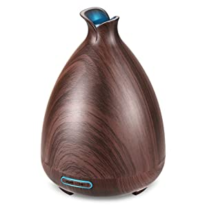 URPOWER Wood Grain Essential Oil Diffuser (Brown)