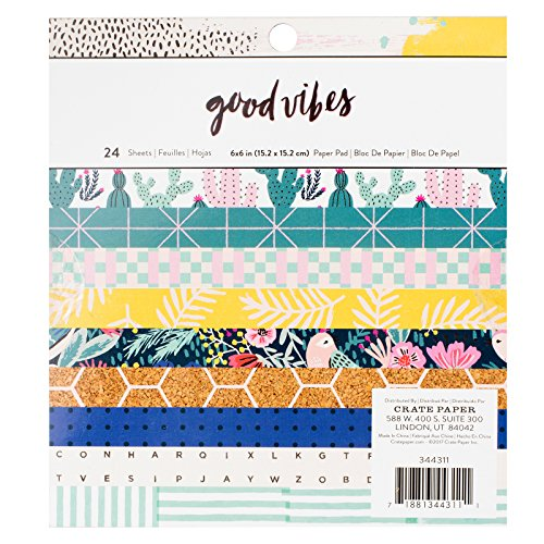 Crate Paper 24 Sheet 6 x 6 Inch Pad Good Vibes