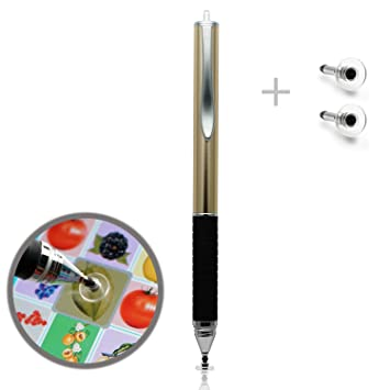6a278b8928738 Ciscle Antislip Disc Stylus Touchscreen Pen with 2pcs Spare Disc Tips  Compatible with iPhone