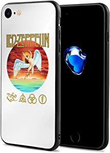 Led Zeppelin Phone Case for Apple iPhone 7/8 Shockproof Anti-Scratch TPU Case Soft Rubber Frame Cover 4.7 Inch-Rock Band Logo Personality iPhone 7 Case iPhone 8 Case (w-22)