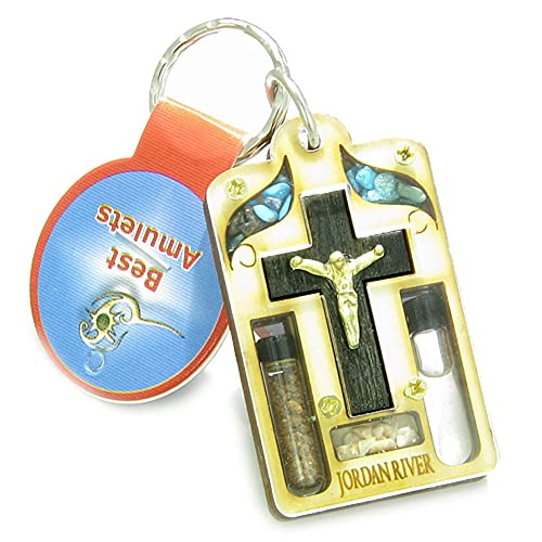 Amazon.com: Tierra Santa de piedras preciosas amuleto Jesús ...