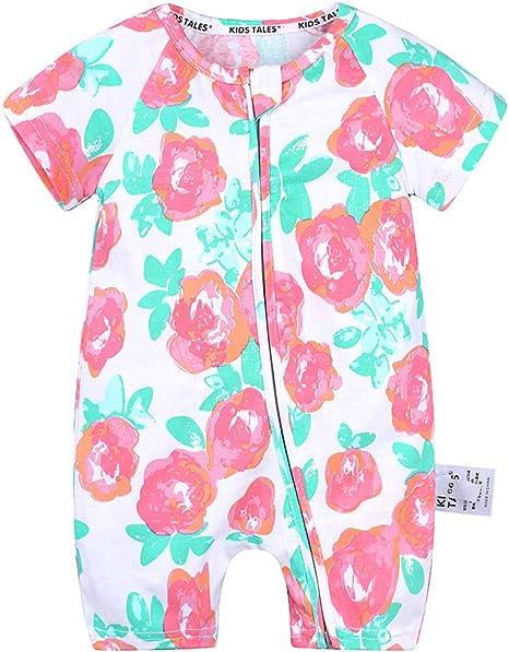 Bebé Niño Niña Mono Mangas Cortas Mameluco Impreso Pelele Algodón Pijama Body Ropa de Verano: Amazon.es: Bebé