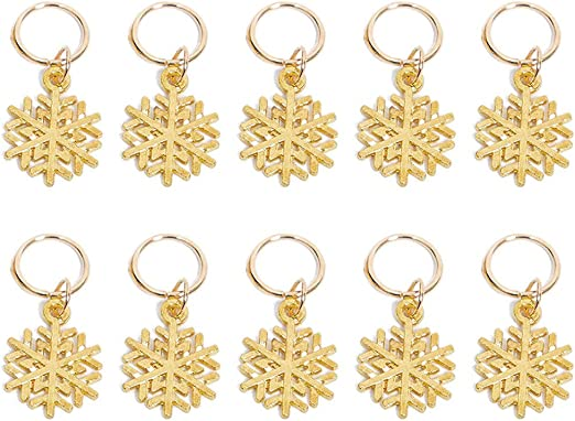 S-TROUBLE 10 ST/ÜCKE Gold Shell Glocke Schneeflocke Anh/änger Dreadlocks Perle Braid Ringe Haar Decor