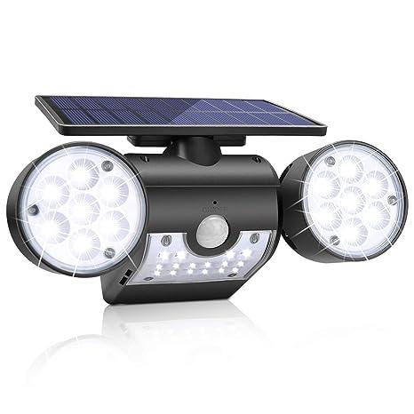 Amazon.com: Luces solares al aire libre, KeShi LED con ...