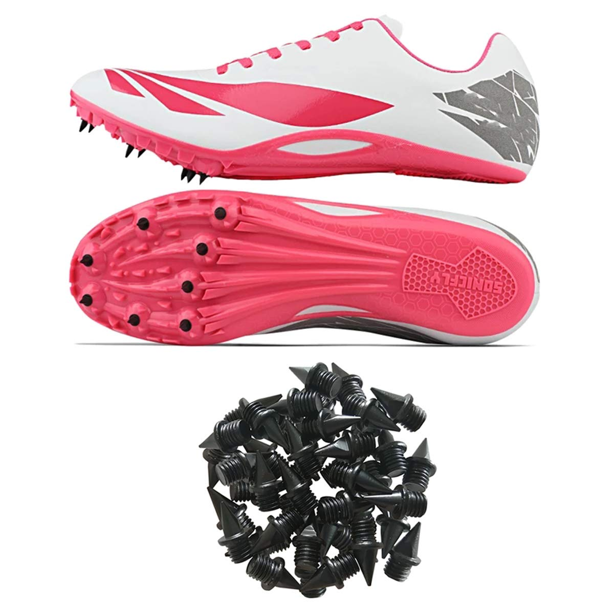 MAOMBO 1//4 Inch 6.5MM Ultra-Light Alloy Track and Spikes for Track Shoes