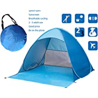 Skytower Automatic Pop Up Portable Outdoors Family Beach 2-5 Persons Tent Quick Cabana Sun UV Protection Shelter UPF 50+