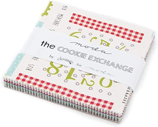 Moda The Cookie Exchange Charm Pack By Sweetwater; 42-5 Precut ...