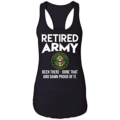 94b61d1ae Amazon.com: Army Retired US,DD214 Gift, Bee Racerback Tank Top: Clothing