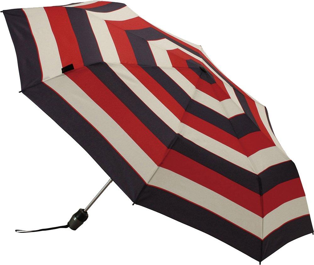 Knirps 折りたたみ傘 ワンタッチ自動開閉式 コンパクト 【正規輸入品】 T.200 MediumDuomatic Stripe Red KNT200-4905 B01CN3AR18 Stripe Red Stripe Red