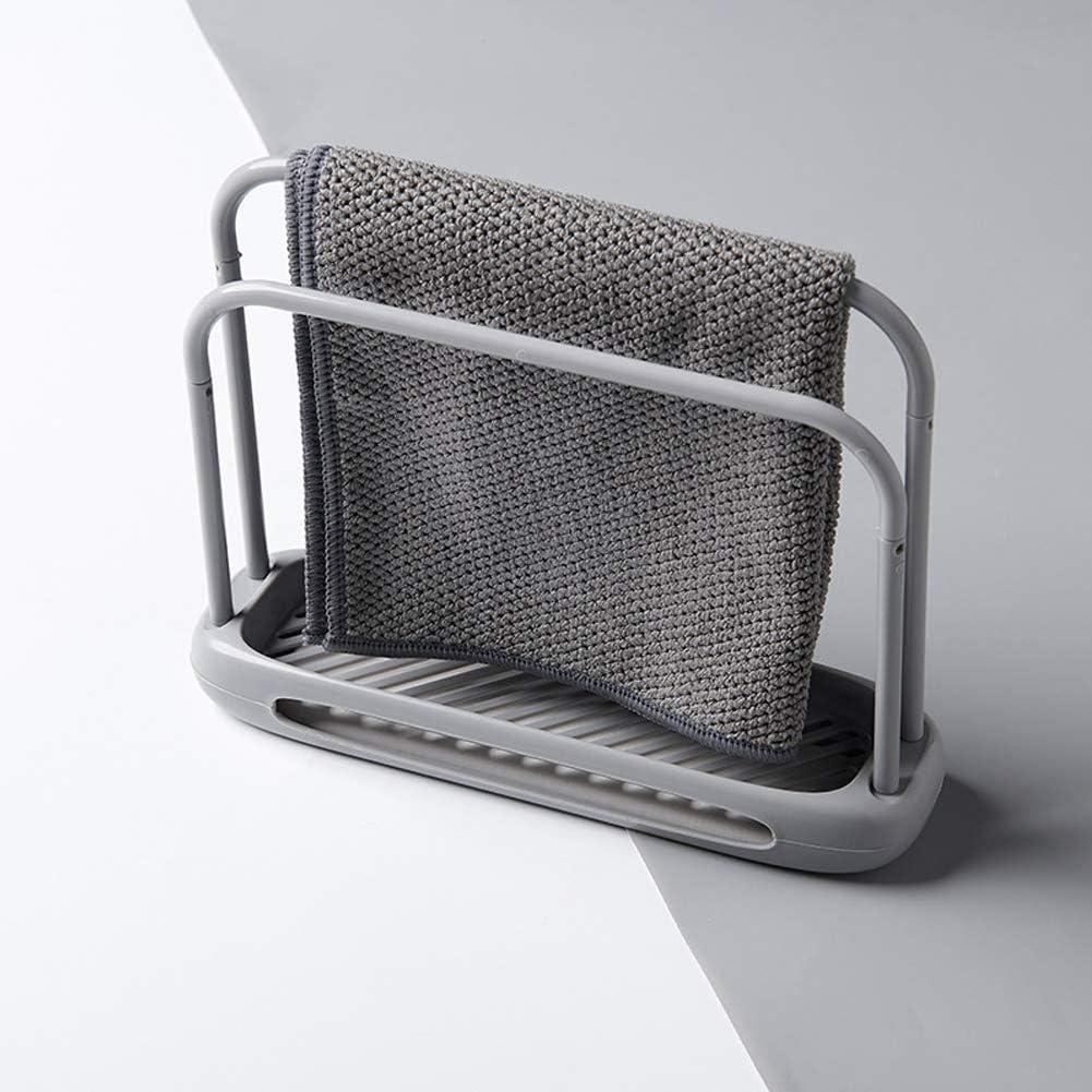SDGDFXCHN Abnehmbares Geschirrtuch und Schwamm-Trockengestell Handtuchablage Doppelst/änder-Lappenst/änder