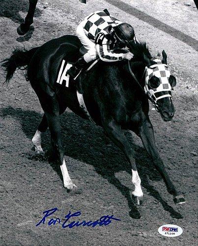 Ron Turcotte Signed 8x10 Photo Secretariat - PSA/DNA Authentication - Sports Memorabilia