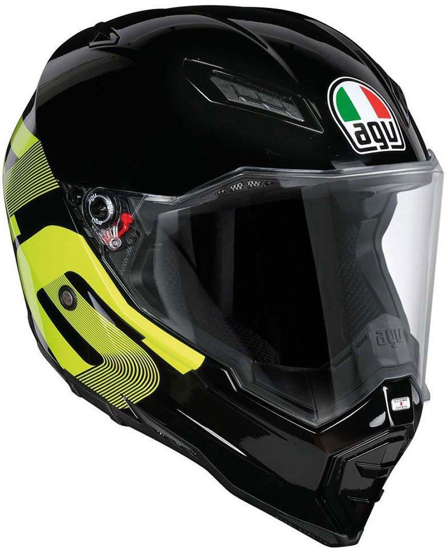 XXXL AGV Casco Moto Ax-8 Evo Naked E2205 Top Identity Black//Yellow