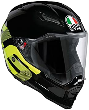 AGV Casco Moto AX-8 Evo Naked E2205 Top, Identity Black/Yellow,
