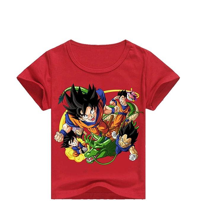 CTOOO Dragon Ball Niños Camiseta De Manga Corta Casual De Cuello Redondo: Amazon.es: Ropa y accesorios
