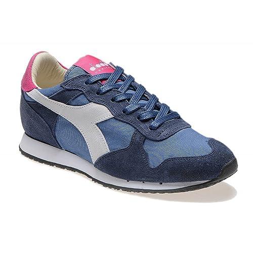 1e529487084fe Diadora Heritage - Trident W SW Low Blu Magenta - Sneakers Donna   Amazon.it  Scarpe e borse