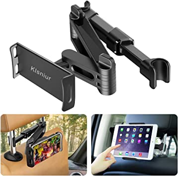 """Tablet Headrest Holder Mount for 4.7-12.9/"""" iPad Air//Mini//Pro Samsung VACNITE Car Tablet Holder Back Seat for Kids with 360/°Rotation Angle and Strap Adjustable Fits Most Headrests Car Headrest Mount"""