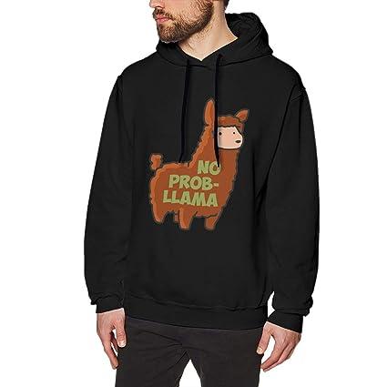 AA WIU No Prob,Llama Casual Hoodie Sweatshirts Sports Pullovers Sweaters Men