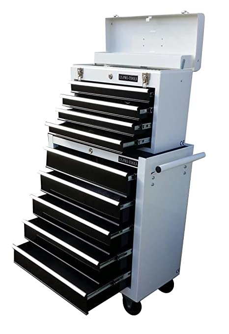 200 Us Pro Tools Tool Chest Tool Box Roller Tool Cabinet White With