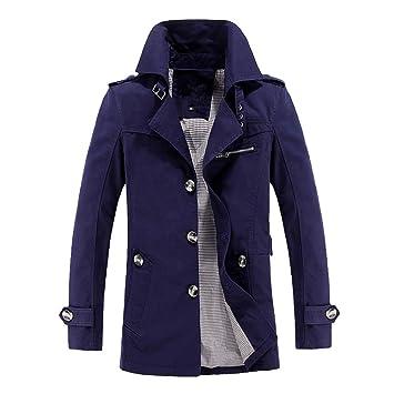 LILICAT Abrigo de Invierno Cálido Sin Chaqueta Para Hombre Escudo Delgado Trench Coat Chaqueta con Botones
