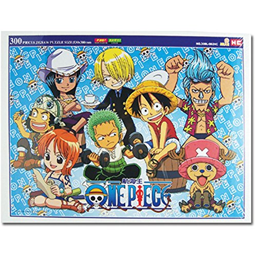 One Piece: Chibi Straw Hat Pirates Group Image 300 Piece Puzzle
