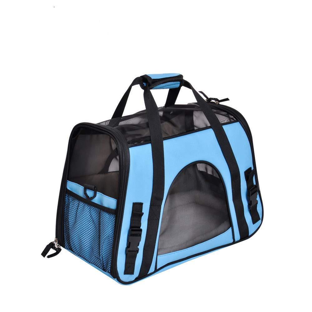 bluee Breathable pet Backpack cat Bag Dog Bag Teddy Out MultiFunction Carrying Bag Comfortable Travel Home,bluee