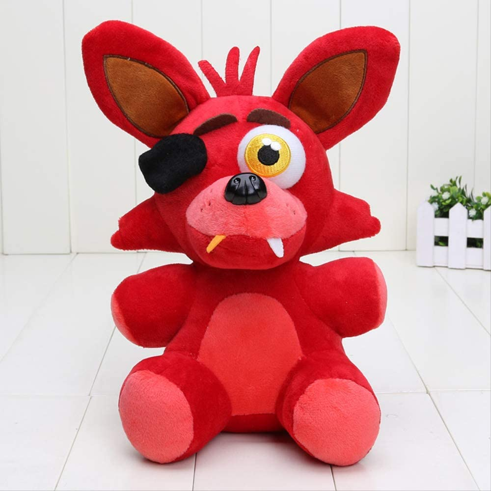 siqiwl Peluche 25cm FNAF Plush Five Nights At Freddy Nightmare Foxy Mangle Green Phantom Foxy Plush Doll Vedio Juego De Personaje De Juguete