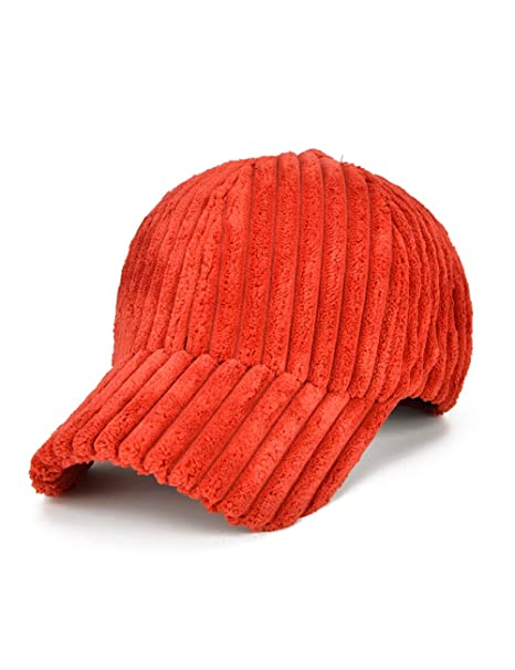 c8d332528 ATVIAVIA Unisex Corduroy Cap Adjustable Baseball Caps Solid Dad Hat ...