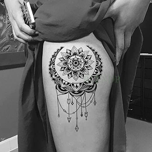 Yyoutop Impermeable e Etiqueta engomada del Tatuaje Lotus ...