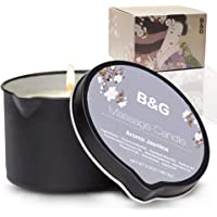 B & G Aromatherapy Massage Candle - Moisturizing Body Oil Candle for Couples and Home Spa - Luxurious & Hydrating Skin…