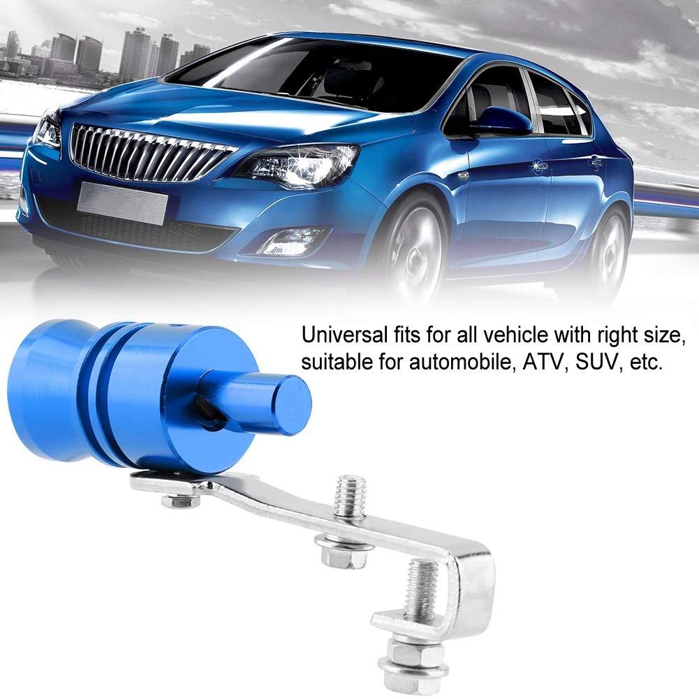 Tubo di scappamento Universal Car Car Tubo di scarico Turbo Fischio per Automobile ATV SUV Accessori auto Blu